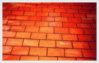 Bricks Used on Chemical Process Floor