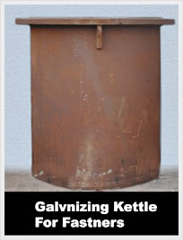 galvanizing kettle for fastners s